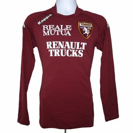 2008-2009 Torino Match Issue Home Shirt #17 Suciu Kappa Large (Excellent)